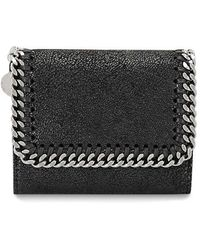 Stella McCartney Falabella Shaggy Faux Leather Wallet - Черный