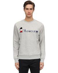 Moncler ロゴ コットンスウェットシャツ - グレー