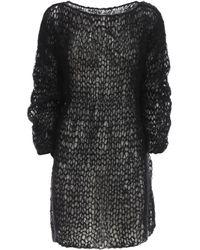 Gudrun & Gudrun Folva Mohair Blend Knit Mini Dress - Black