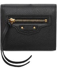 Balenciaga - Flap Leather Wallet - Lyst
