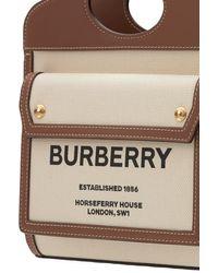 Burberry - Кожаная Сумка Из Канвас С Логотипом - Lyst