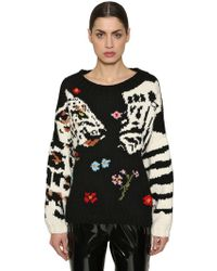Sonia Rykiel - Leopard & Zebra Wool Knit Jumper - Lyst