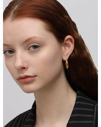 Sophie Buhai Large Etruscan Hoop Earrings - Mettallic