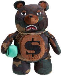 Sprayground Checks & Camo Teddy Bear Backpack - Multicolour