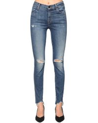 J Brand - Maria High Rise Destroyed Skinny Jeans - Lyst