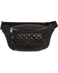 Balmain - 35 Quilted Leather Belt Bag - Lyst
