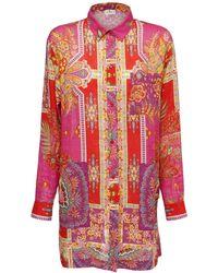 Etro Платье С Карманами - Красный