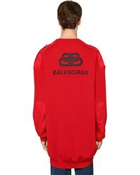 Balenciaga Oversized Pullover Aus Wolle - Rot