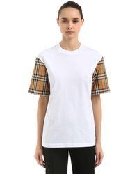 Burberry コットンtシャツ - ホワイト