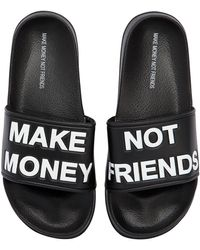 MAKE MONEY NOT FRIENDS - Sandalias Con Logo - Lyst