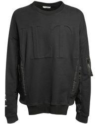 Valentino ボンバースウェットシャツ - ブラック
