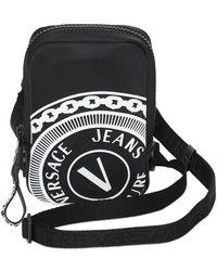 Versace Jeans Couture Umhängetasche Aus Nylon Mit Logo - Schwarz