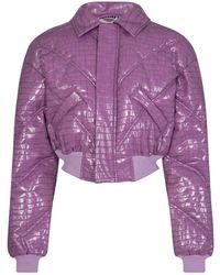 ROTATE BIRGER CHRISTENSEN Укороченная Куртка Rosa Bomber - Пурпурный