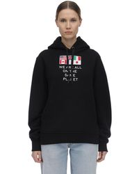 Burberry Flag Oversized Hoodie - Black