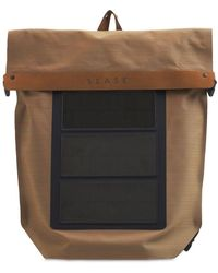 Sease Wool & Nylon Backpack W/ Usb Charger - Multicolour