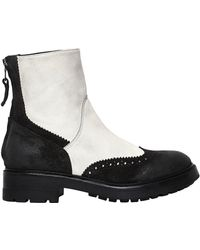 Strategia | 30mm Brogue Leather Ankle Boots | Lyst