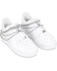 Nike Exclusive Air Force 1 Bridal Sneakers - White