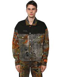 Heron Preston Куртка Из Хлопкового Денима - Многоцветный