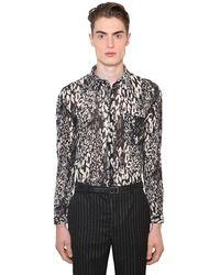 Saint Laurent Рубашка Из Хлопка И Шелка С Принтом - Многоцветный