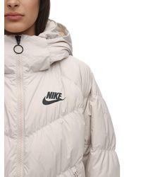 "Nike Parka Aus Nylon Mit Kapuze ""nsw"" - Weiß"