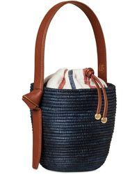 Cesta Collective Summer Stripe Lunchpail Canvas Bag - Blue