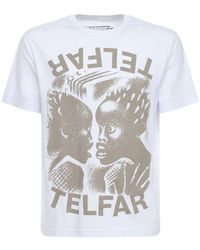 Telfar T-shirt In Cotone Con Stampa - Bianco