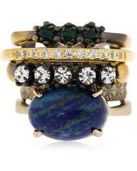 Iosselliani - Set Of 5 Rings W/ Lapis Lazuli - Lyst