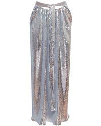Paco Rabanne ジャージースパンコールスカート - メタリック