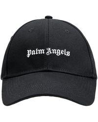 Palm Angels Kappe Aus Baumwollcanvas Mit Logo - Schwarz
