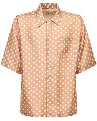 Marni Рубашка Из Шелка С Принтом - Естественный