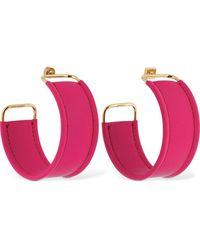 Jacquemus Les Fauteuils Big Hoop Leather Earrings - Pink