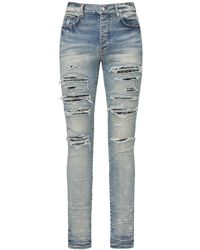 """Amiri Jeans Aus Denim """"bandana Thrash"""" - Blau"""