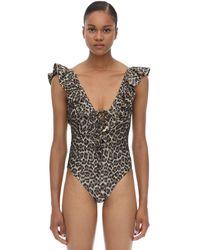 Zimmermann Leopard Printed One Piece Bathing Suit - Multicolor