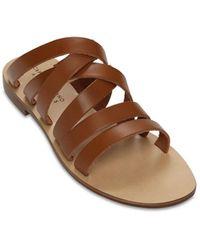 Capri Positano 10mm Chiaia Leather Sandals - Brown
