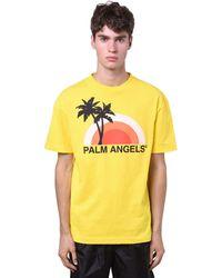 Palm Angels - コットンジャージーtシャツ - Lyst