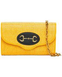 Gucci Sm 1955 Horsebit Shoulder Bag - Yellow