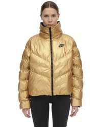 Nike Sportswear Synthetic Fill Shine Jacket (metallic Gold) - Clearance Sale