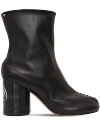 Maison Margiela - 80mm Hologram Tabi Leather Ankle Boots - Lyst