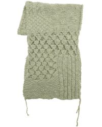 MM6 by Maison Martin Margiela Alpaca Blend Hand Made Crochet Scarf - Green