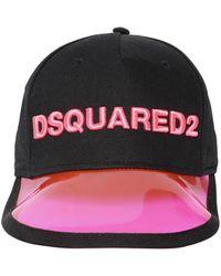 DSquared² Logo Embroidered Cotton Baseball Cap - Black