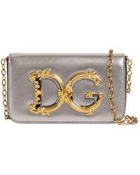 """Dolce & Gabbana Kleine Ledertasche """"dg Girls"""" - Mettallic"""