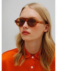Loewe Runde Sonnenbrille Aus Acetat - Braun