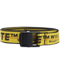 Off-White c/o Virgil Abloh 25mm Mini Logo Nylon Belt - Yellow
