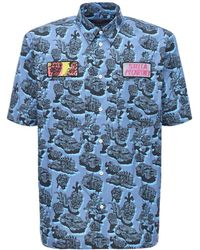 Stella McCartney プリントコットンシャツ - ブルー