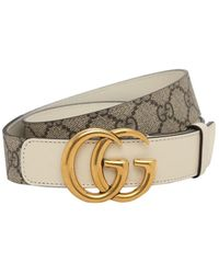 "Gucci Ремень ""gg Marmont"" 3cm - Белый"