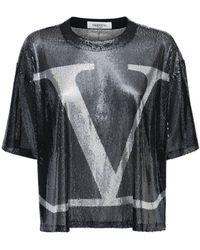 Valentino - Go Logo スパンコールトップ - Lyst