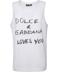 Dolce & Gabbana - コットンポプリントップ - Lyst