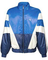 Balenciaga パデッドナイロントラックスーツジャケット - ブルー