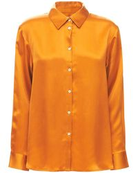 Asceno The London シルクパジャマシャツ - オレンジ
