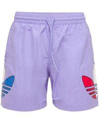 adidas Originals Primegreen Tricolor Trefoil 水着 - パープル